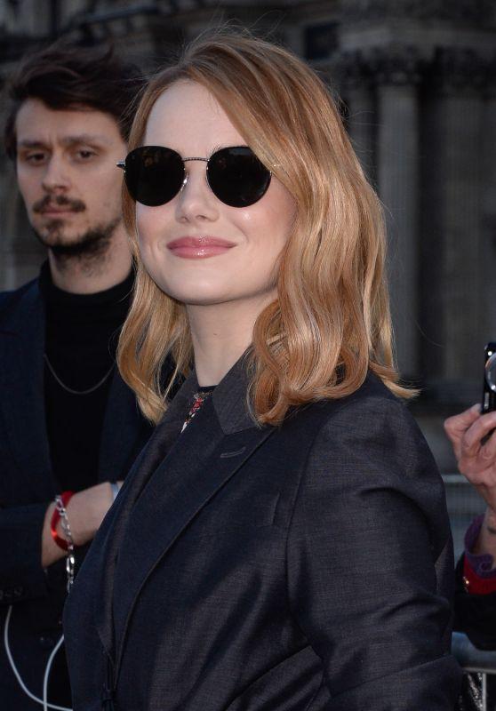 Emma Stone - Outside the Louis Vuitton Show in Paris 03/06/2018