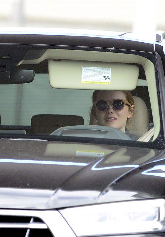 Emma Stone - Starbucks Drive in Los Angeles 02/27/2018