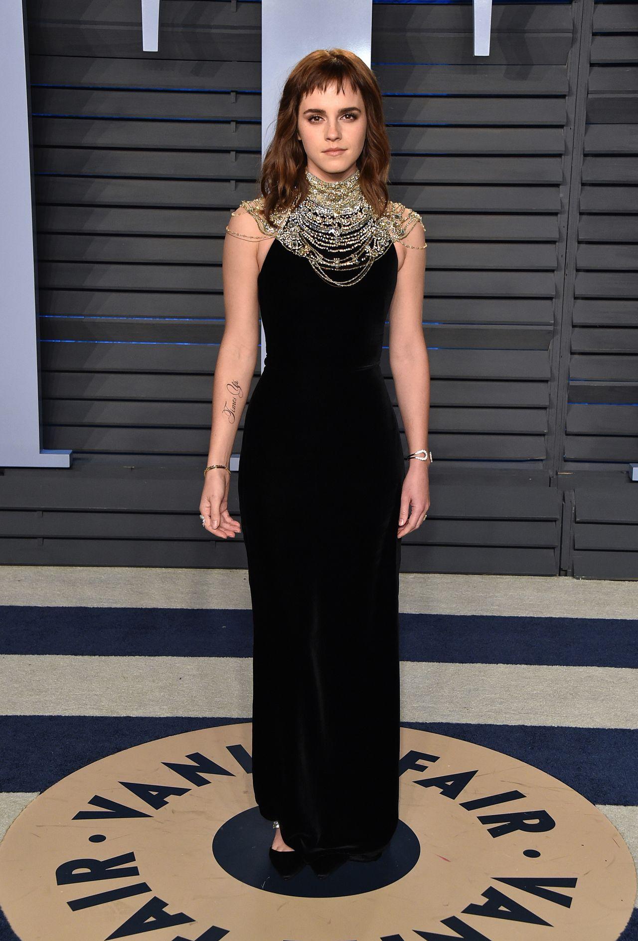 Emma Watson 2018 Vanity Fair Oscar Party In Beverly Hills
