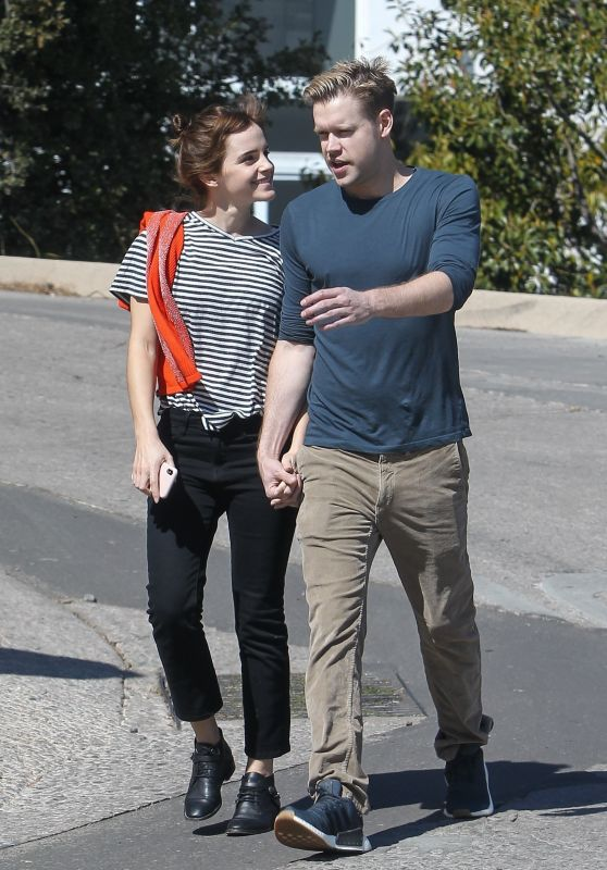 Emma Watson and Chord Overstreet Holding Hands on a Romantic Walk in Los Angeles 03/08/2018