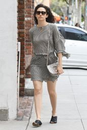 Emmy Rossum Leggy in Mini Dress - Beverly Hills 03/19/2018