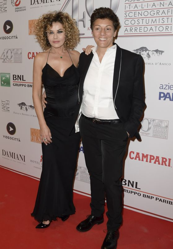 Eva Grimaldi – 40 Years of the Italian Association of Costume Designers and Decorators Party in Rome