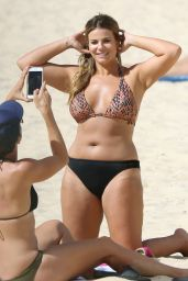 Fiona Falkiner in Bikini at Coogee Beach in Sydney 03/08/2018
