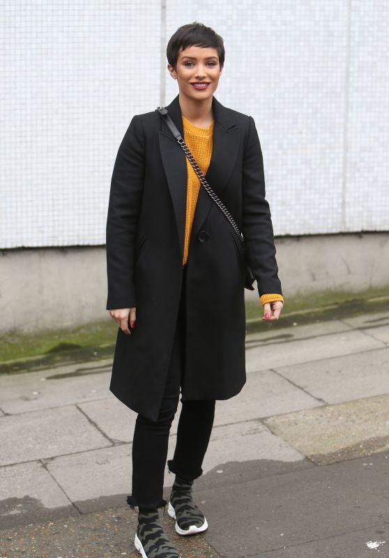 Frankie Bridge at the ITV Studios in London 03/29/2018