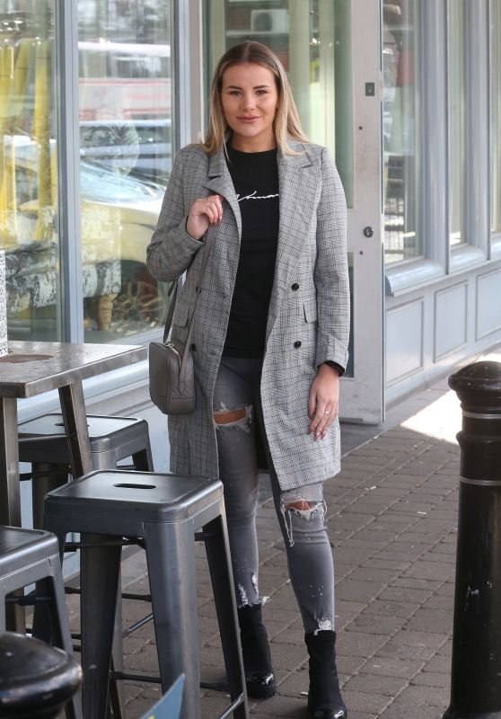 Georgia Kousoulou - Filming TOWIE Scenes at Brentwood Kitchen in Essex