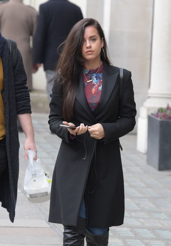 Georgia May Foote - Business Lunch Meeting in London 03/13/2018