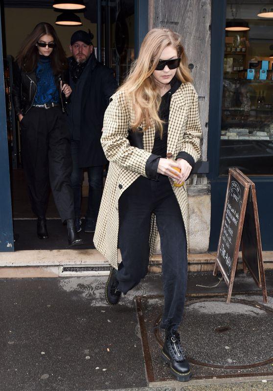 Gigi Hadid at Royal Monceau Hotel in Paris 03/02/2018