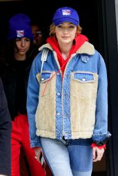 Gigi Hadid - Heads Out to the Rangers Game in NYC 03/12/2018