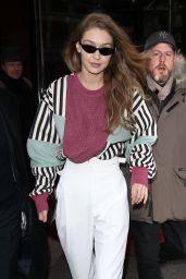 Gigi Hadid in Casual Outfit - Paris 03/01/2018