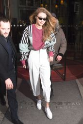 Gigi Hadid in Casual Outfit - Paris 03/01/2018