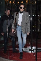 Gigi Hadid - Leaving the Royal Monceau Hotel in Paris 03/04/2018