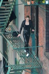 Gigi Hadid - Photoshoot on a Fire Escape in Brooklyn