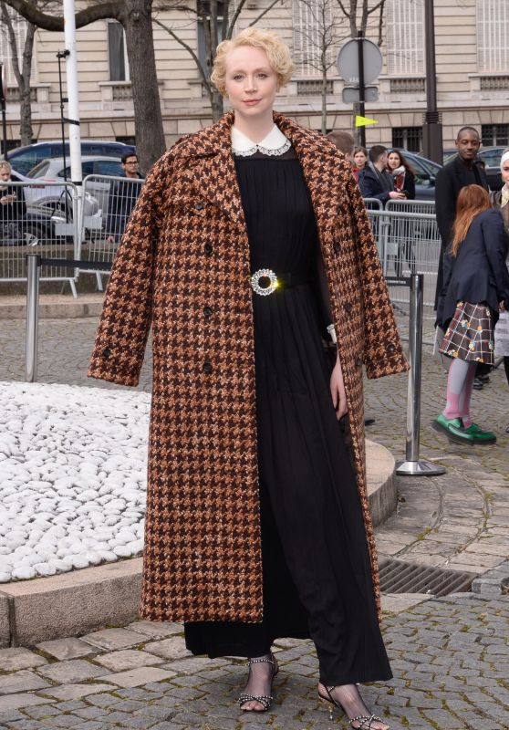 Gwendoline Christie – Miu Miu Show FW 18 in Paris