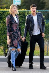 Hailey Clauson and Julian Herrera - Arriving to an Apartment Building in Beverly Hills 03/05/2018