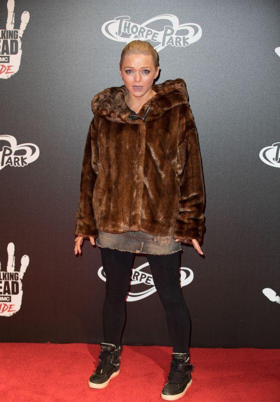 """Hannah Spearritt – """"The Walking Dead Ride"""" Launch in London"""