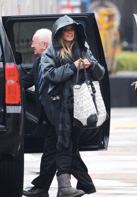 """Heidi Klum - Arrives on the Set of """"America"""