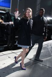 Hilary Swank at the Good Morning America Studios in NYC 03/19/2018