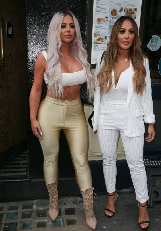 Holly Hagan and Sophie Kasaei - Arriving at Charlotte Crosby TV Show in London