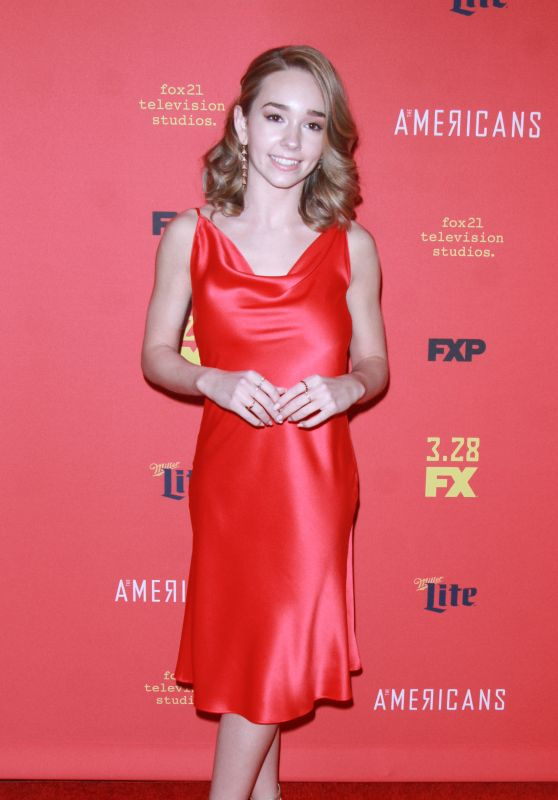 "Holly Taylor – ""The American's' TV Show Premiere in NY"