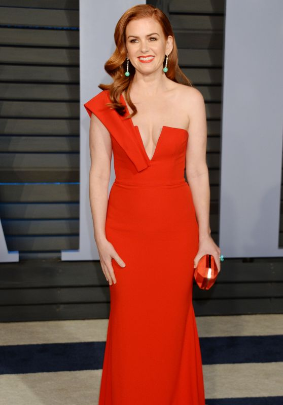 Isla Fisher – 2018 Vanity Fair Oscar Party in Beverly Hills
