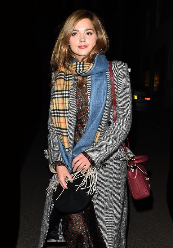 Jenna Coleman - Leaving 34 Restaurant in London