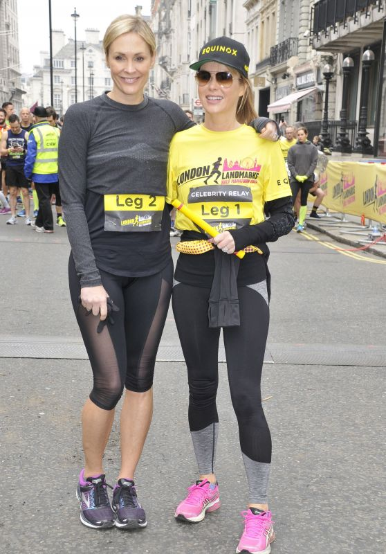 Jenni Falconer and Amanda Holden - London Landmarks Half Marathon