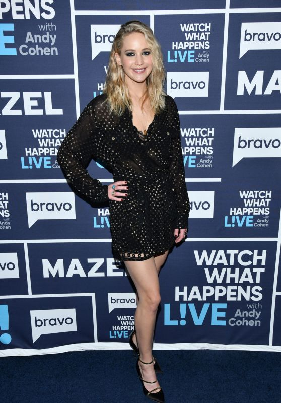 """Jennifer Lawrence Appeared on """"Watch What Happens Live with Andy Cohen"""" in NYC 03/01/2018"""