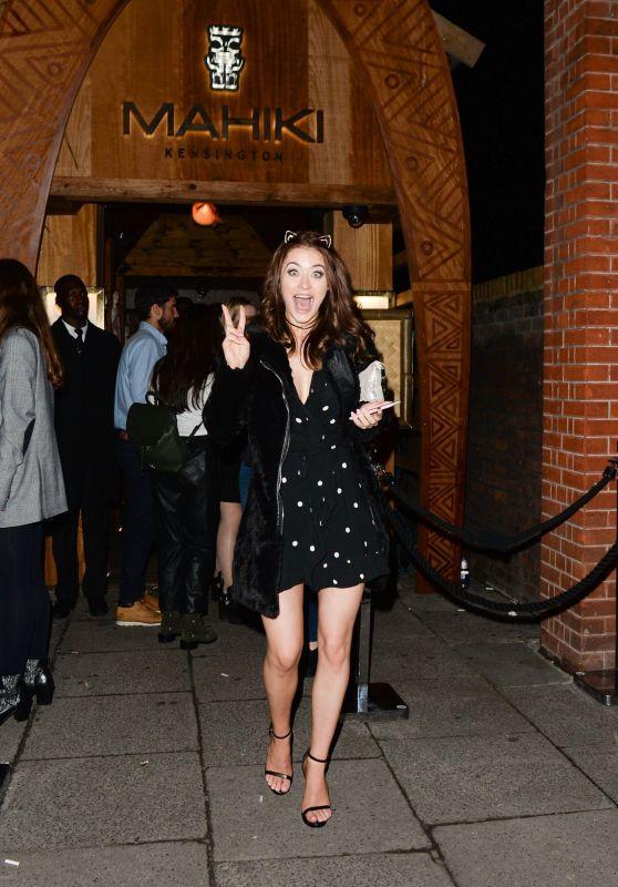 Jess Impiazzi – Leaving Mahiki Restaurant in London 03/10/2018