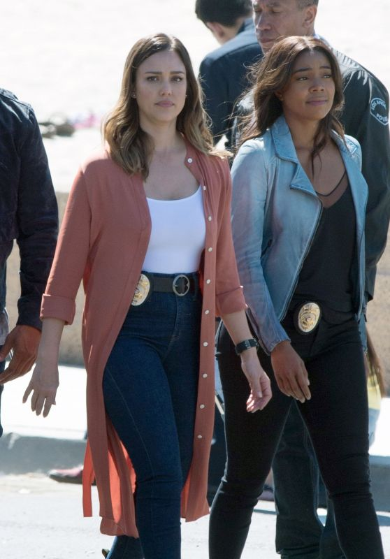 Jessica Alba and Gabrielle Union - Untitled Bad Boys Spinoff Set in Los Angeles 03/28/2018
