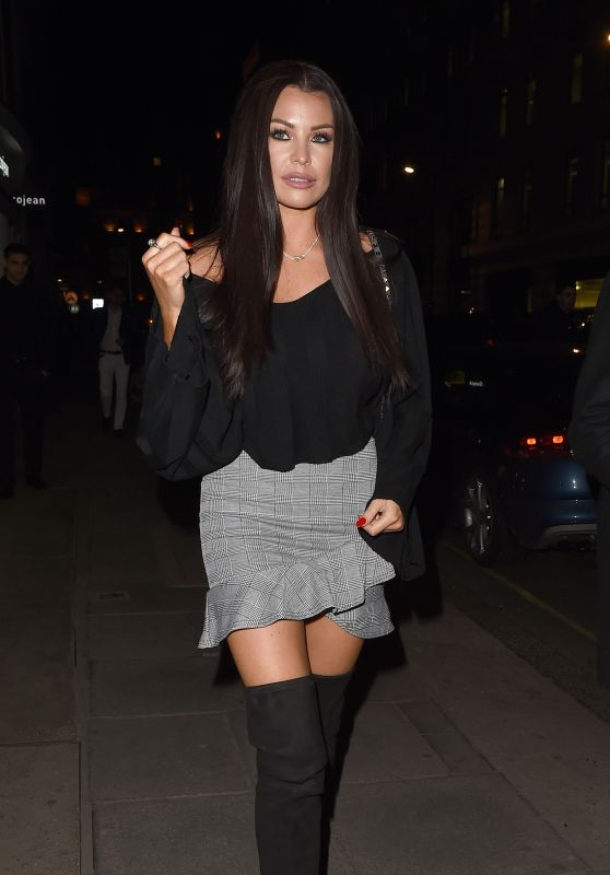 Jessica Wright - Leaving The Hospital Club in London