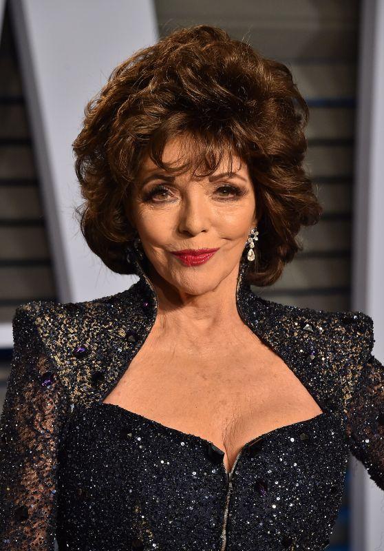 Joan Collins – 2018 Vanity Fair Oscar Party in Beverly Hills