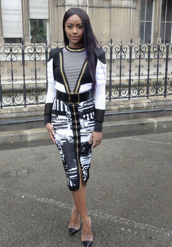 Justine Skye – Balmain Show FW18 in Paris