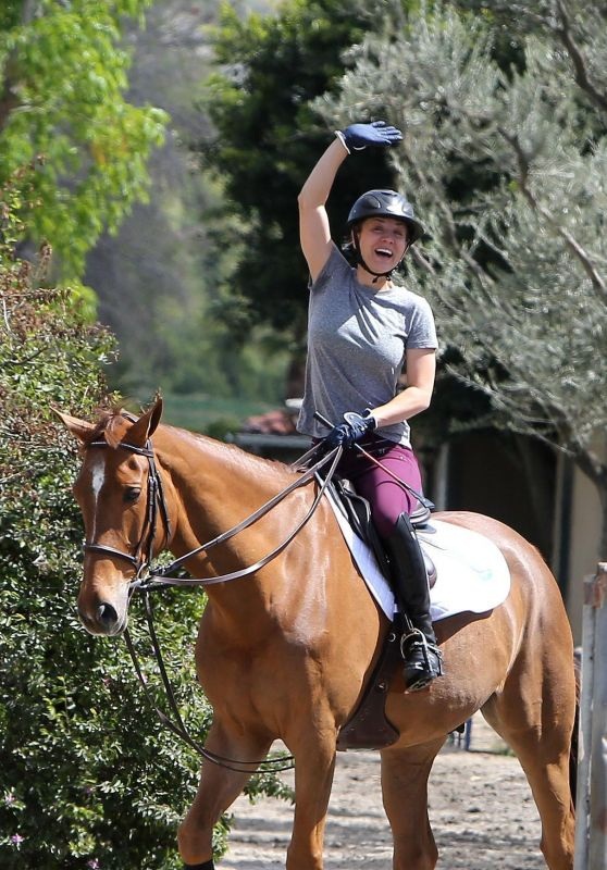 Kaley Cuoco Riding a Horse in Los Angeles 03/15/2018