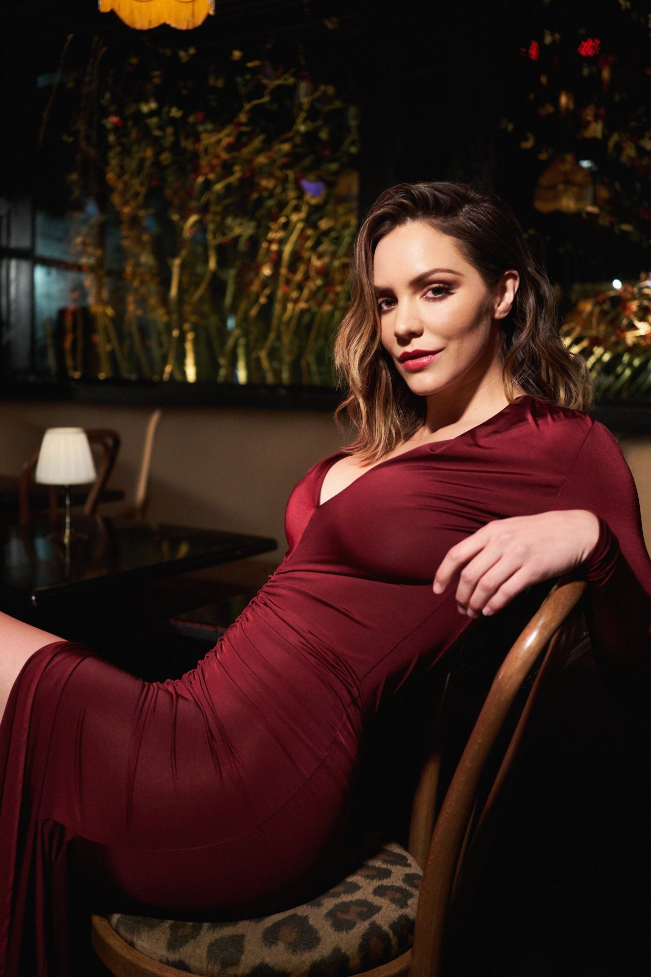 Katharine McPhee STUNNING in Night and Day music video BTS photos
