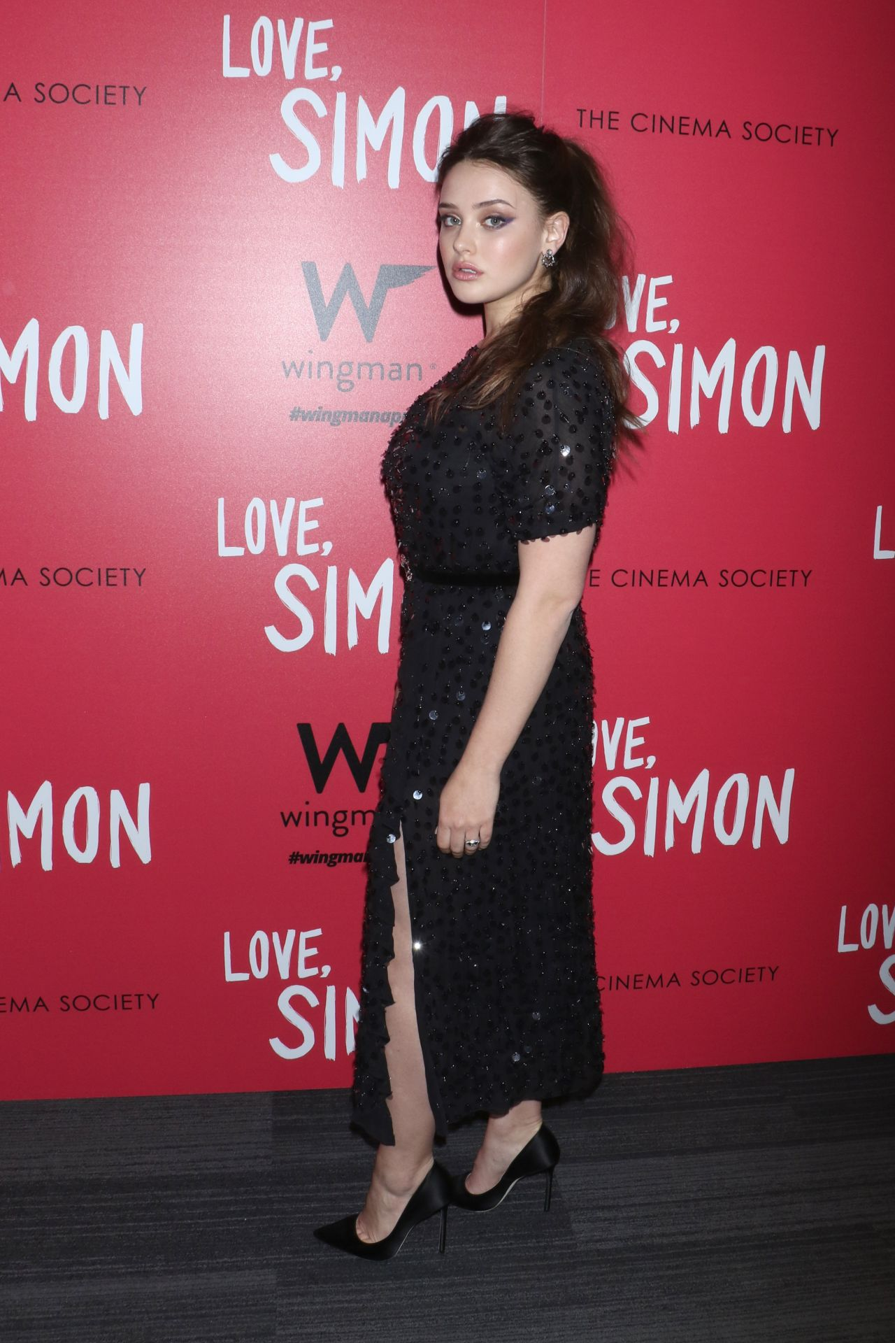 katherine langford love simon premiere in new york. Black Bedroom Furniture Sets. Home Design Ideas