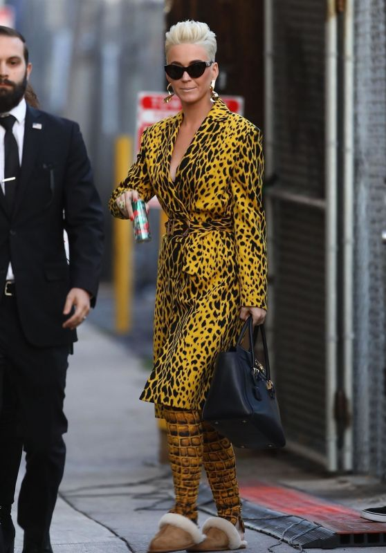 Katy Perry Arriving to Appear on Jimmy Kimmel Live! in Hollywood 03/05/2018
