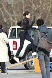 Kendall Jenner Films a New Ad in Paris 03/20/2018