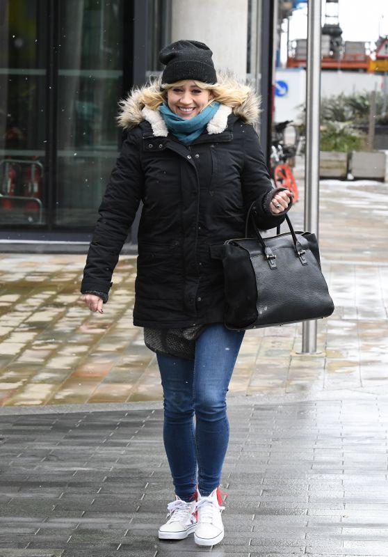 Kimberly Wyatt Street Style - MediaCityUK in Manchester 03/01/2018