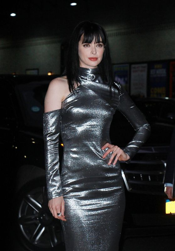 Krysten Ritter at The Late Show with Stephen Colbert TV Show in NYC 03/01/2018
