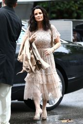 Kyle Richards - Arriving at Khloe Kardashian