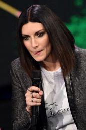 """Laura Pausini - Italian TV show """"Che Tempo Che Fa"""" in Milan"""