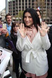 Laura Pausini - Leaves a Hotel in Paris 03/29/2018