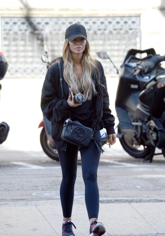 Lauren Pope Went to a Gym Close to Her Hotel in Barcelona