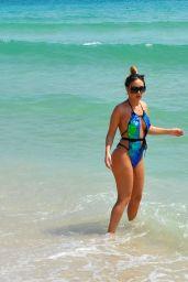 Lauryn Goodman in Swimsuit on Beach in Cape Verde 03/02/2018