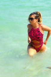 Lauryn Goodman in Swimsuit on Beach in Cape Verde 03/05/2018