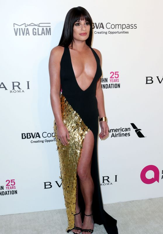 Lea Michele – Elton John AIDS Foundation's Oscar 2018 Viewing Party in West Hollywood