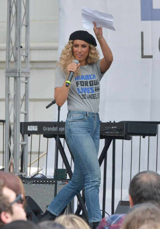 """Leona Lewis – Anti-Gun """"March For Our Lives"""" Rally in Los Angeles"""