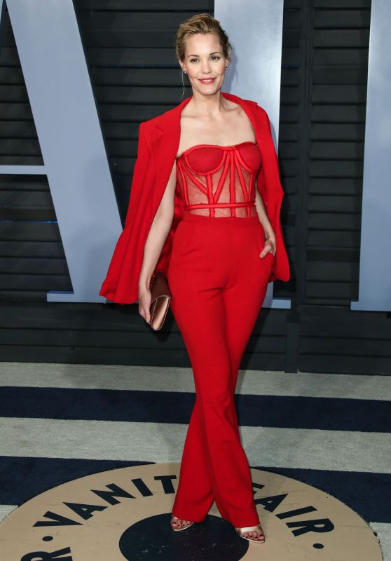 Leslie Bibb – 2018 Vanity Fair Oscar Party in Beverly Hills