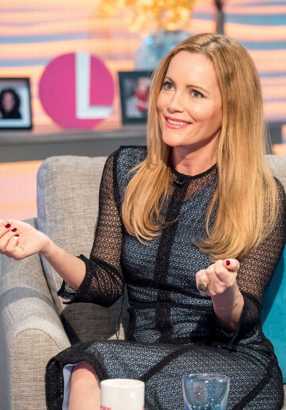Leslie Mann Appeared on Lorraine TV Show in London 03/20/2018