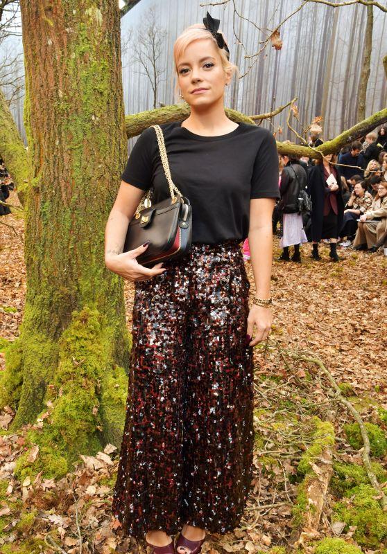 Lily Allen – Chanel Fashion Show FW18 in Paris